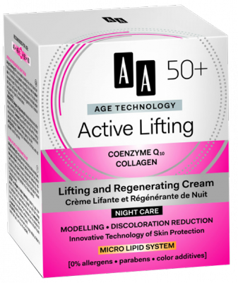AA AT Active Lifting 50+ Éjszakai Arckrém